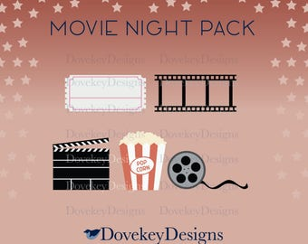 Movie Night Pack for Cricut/Silhouette (svg)
