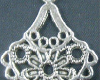 Set of 2 Tibetan silver charms