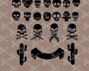 Skull SVG, PNG, DXF, Eps Cutting Files, Skull Vector, Skull Clipart, Punisher Svg, Sugar Skull Svg, Day of the dead, skeleton svg cut file