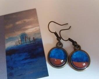 Bronze earrings 14mm