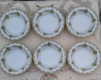 Vintage Noritake Brunswick Pattern Berry Bowls - Set of 6; Yellow Rose Berry Bowl, Dessert Bowl, Salad Bowl, Side Dish, Vintage Noritake