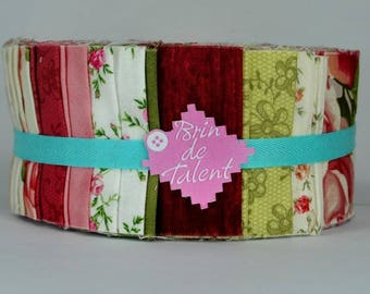Vintage Roll quilt - strips of fabric for quilt - Jelly Roll
