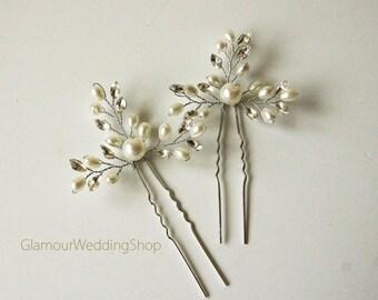 Wedding Hair Pin Bridal Hair Pins Silver Bridal Headpiece Bridal Hairpiece Wedding Hair Bridal Hair Accessory Bridal Hair Piece