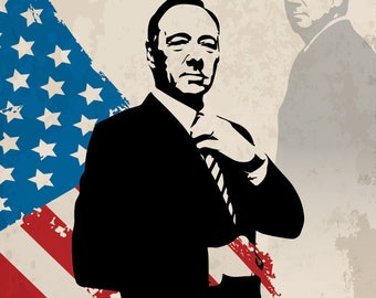 Frank Underwood ( House of Cards ) - 12x18 (FREE SHIPPING)