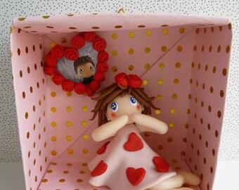Valentine in his origami frame