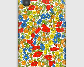 Case for iPhone X 8, 8 +, 7, 7 +, 6s, 6, 6s +, 6, 5 c, 5, 5s 5SE, 4s, 4 Liberty Poppy and Daisy M
