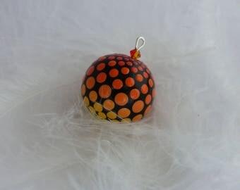 Mandala pendant - Orange