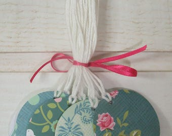 Set of 14 paper tags shabby Tilda (round format) (number 3)