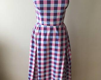 1950s vintage couture dress