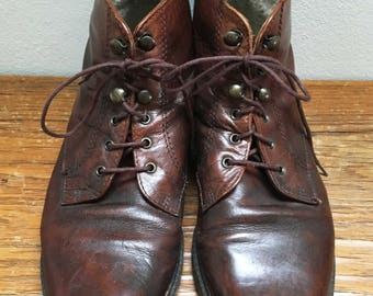 Learn vintage lace up boots size 39
