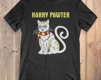 Funny Cat T-Shirt Gift: Harry Pawter