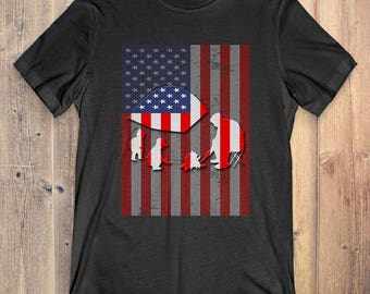 Camping T-Shirt Gift: American Flag