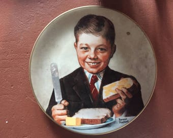 "Norman Rockwell ""Butter Boy"" Collector Plate"