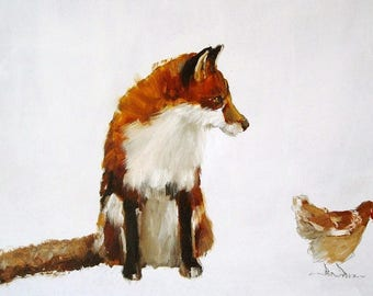 Fox and Hen Limited Edition Print
