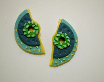 Summer blue earrings