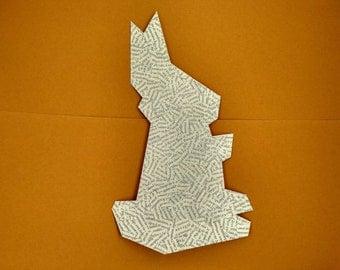 Rabbit - Paper collage geometric illustration Board