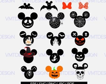 Mickey Mouse SVG, Mickey Mouse Halloween SVG, Mickey svg, Mickey Halloween svg files for silhouette, files pdf, eps, png, jpg, svg
