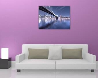 Manhattan Bridge, manhattan bridge, design, digital art painting