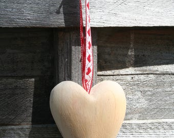 hanging wooden heart