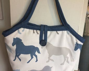 Horse Fabric Reversible Bag