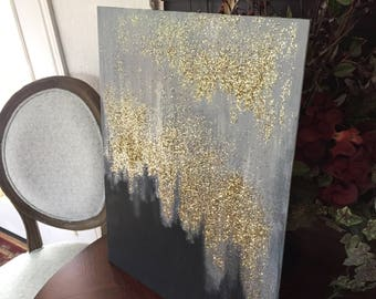 Gold Glitter Painting