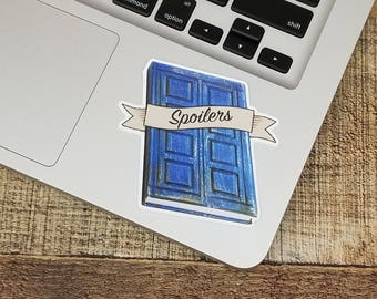 "3"" Spoilers River Song Diary - Doctor Who Sticker"