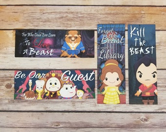 Beauty And The Beast - 4 Pack Of Bookish Bookmarks