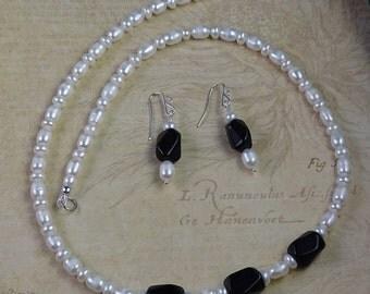 Garnets and White Fresh Water Pearls January Birthstone