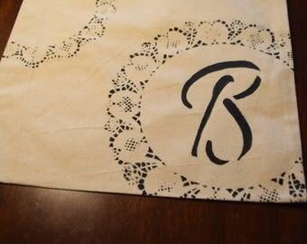Initial Canvas Bag