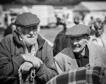 Two farmers at the Trawden country shoe, Lancashire (photograph)