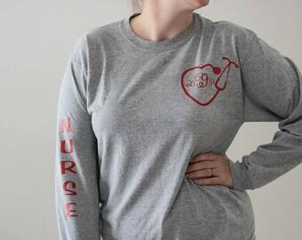 Custom Monogram Nurse Shirt