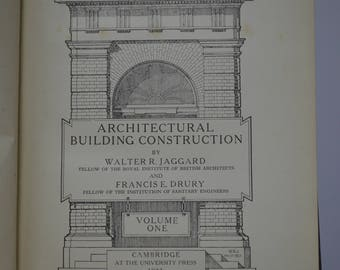 Architectural Building Construction Vol. I