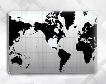 The World Map Macbook Pro Case Macbook Hard Case, Macbook Air case Macbook Air 11 case Macbook Air 13 Macbook Pro 15 Macbook 12
