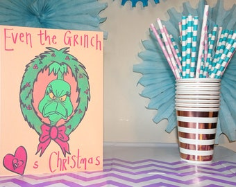 Even The Grinch Loves Christmas - Christmas Card
