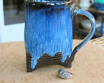 Unique handmade large ceramic mug, handmade gift, housewarming gift, kitchen, dining, stoneware, teamug, coffee mug