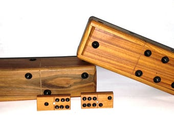 Wooden Dominoes Set Authentic Handmade Classic Design
