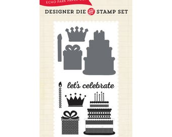 Echo Park Paper Birthday Celebration Stamp and Die Set