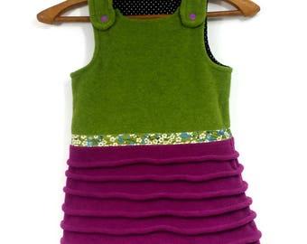 fleece dress child 4 years old, creative, original, winter, Charlibobine