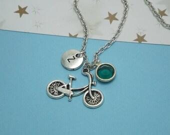 Silver bike necklace Bike jewelry women Bicycle jewelry Bike charm necklace Bike pendant Bike gifts women Bicycle pendant Bicycle necklace
