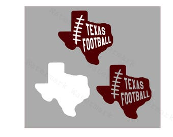 Texas Football SVG and Studio 3 Cut File Cutouts Files Logo Stencil for Cricut Silhouette SVGS Decals Decal College State University Team