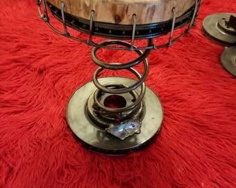 Spring stool scrap art metal