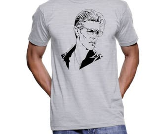 David Bowie Tshirts unique 70 rock Shirts Rock and Roll Clothing Thin white Duke Tees band t-shirts tees Ziggy Stardust Rolling Stones