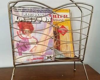 Mid Century Magazine Vinyl Rack, Atomic