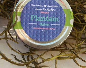 Simple Plantain Salve...All Natural And Organic First Aid