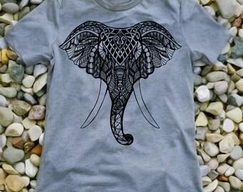 Elephant Head Detailed T-shirt