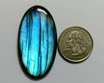 47.22 x 22.75 mm,Ovel Shape Labradorite Cobochon/Blue Flash/wire wrap stone/Super Shiny/Spectrolite Cabochon/Semi Precious Gemstone/labr