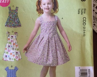 Child's partydress pattern sizes 2-8yrs