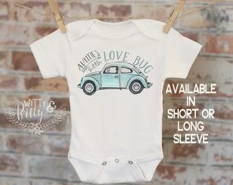 Auntie's Little Lovebug Onesie®, Aunt Onesie, Beetle Onesie, Cute Baby Bodysuit, Cute Onesie, Boho Baby Onesie, Girl Onesie - 174A