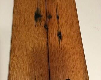 Reclaimed oak barnwood tray