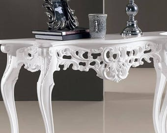 Hand carved console table by master craftsmen